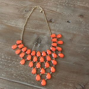 Orange Statement Necklace - NWOT